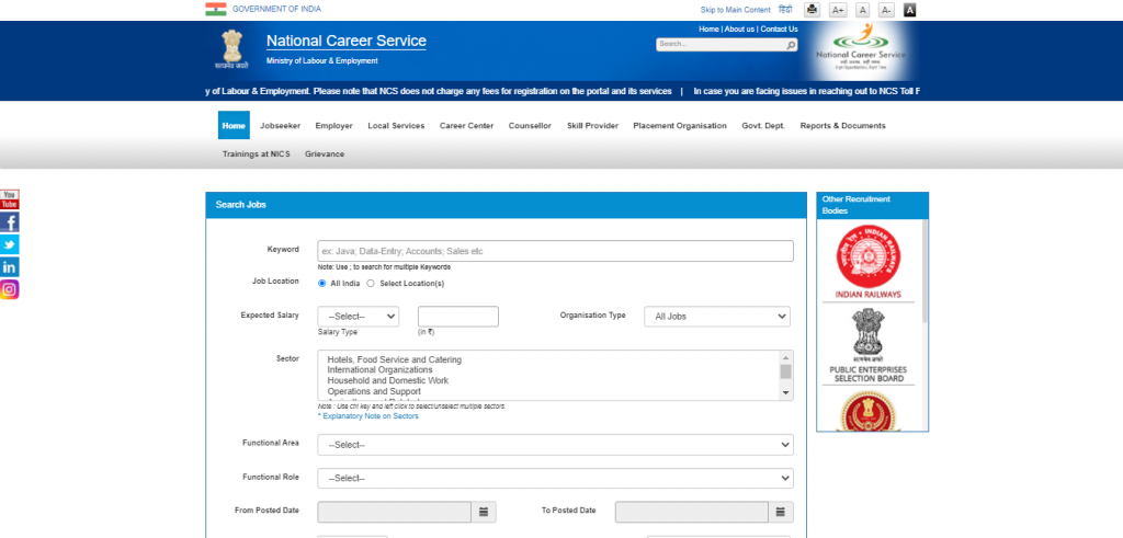 National Career Service Portal: Job Search Process for Women
